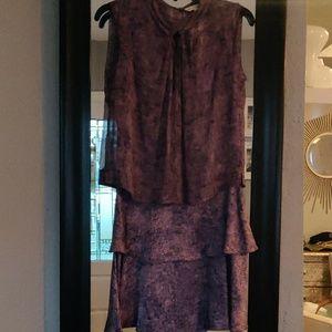 Cute purple silk layer 👗 dress